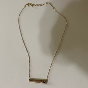 Gold M necklace
